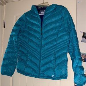 Teal Packable Premium Down Coat